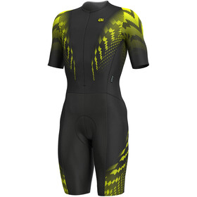 Alé Cycling R-EV1 Pro Race 2.0 Combinaison manches courtes Homme, black-yellow flou